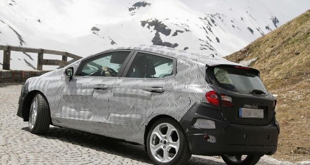 2018 Ford Fiesta side view