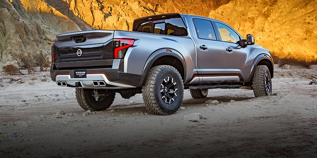 2018 Nissan Titan rear view Warrior concept